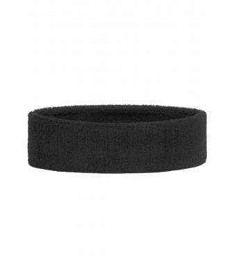 Unisex Terry Headband Black 7598