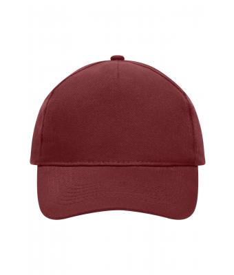 Unisex 5 Panel Cap Heavy Cotton Burgundy 7643