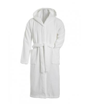 Unisex Bath Robe Hooded White 7672