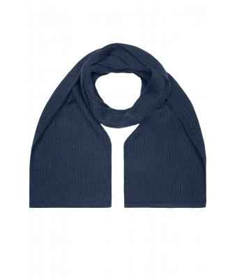 Unisex Knitted Scarf Navy 7676