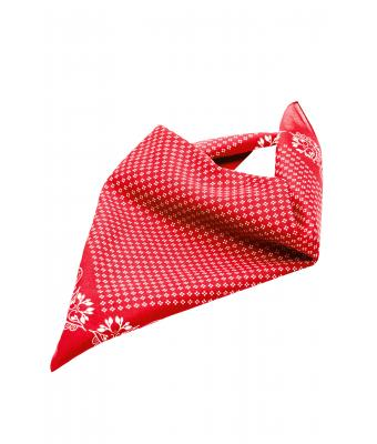 Unisex Traditional Bandana Red/white 8429