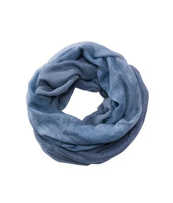Unisex Printed Loop Scarf Navy/white 8457