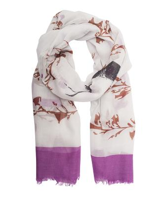 Ladies Traditional Scarf Purple/brown 8508