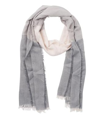 Unisex 3-coloured Scarf Grey/off-white 8556