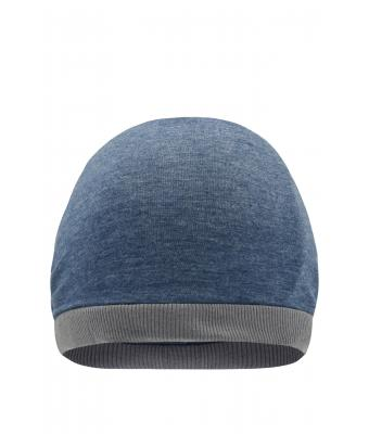Unisex Heather Summer Beanie Blue-melange/dark-grey 8127