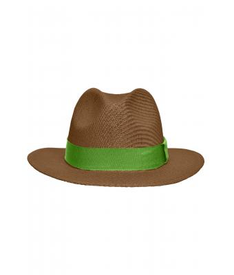 Unisex Traveller Hat Nougat/lime-green 8296
