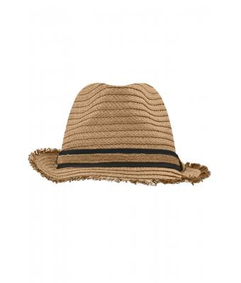 Unisex Trendy Summer Hat Caramel/black 8549