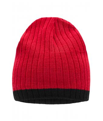 Unisex Knitted Hat Red/black 8432
