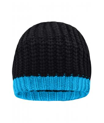 Unisex Wintersport Hat Black/aqua 8433
