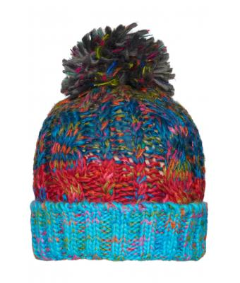 Unisex Fancy Yarn Hat Turquoise-melange 8434