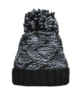 Unisex Highloft Fleece Hat Light-grey/black 8435