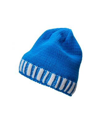 Men Men's Winter Hat Cobalt/silver 8436