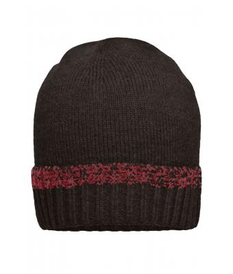 Unisex Traditional Beanie Anthracite-melange/red 8511