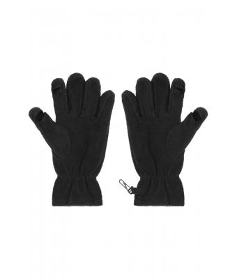 Unisex Touch-Screen Fleece Gloves Black 7997